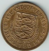 Jersey, George VI, 1/12th Shilling 1945, EF, WB7103